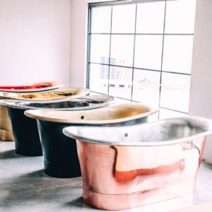 Copper & Brass bath