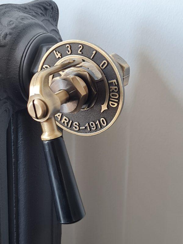 Laurens Paris radiatorkraan standaard uitvoering