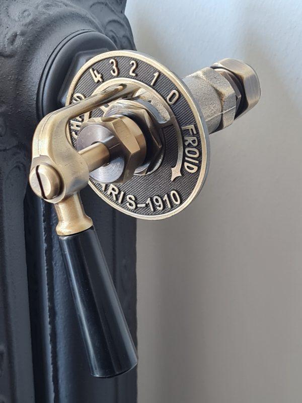 Laurens Paris radiatorkraan met koppeling voor 15 mm koper cv buis - 16 mm meerlagenbuis