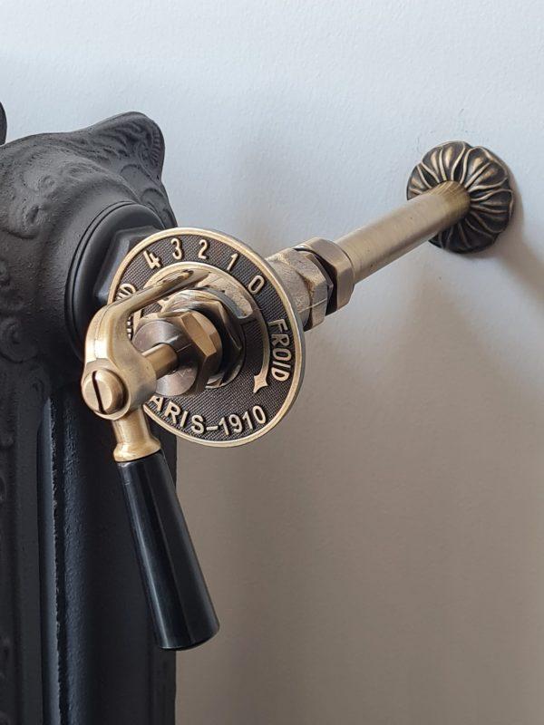 Laurens Paris radiatorkraan met koppeling en rozettenset tot 18 mm leidingwerk